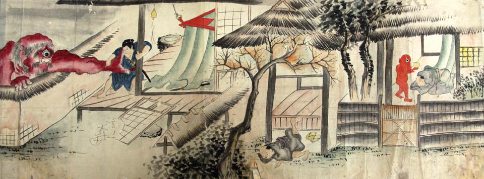 『(仮称)稲生物怪録絵巻』(場面)江戸時代 当館蔵